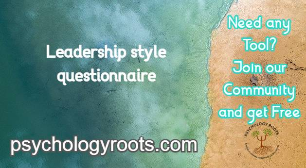 Leadership style questionnaire