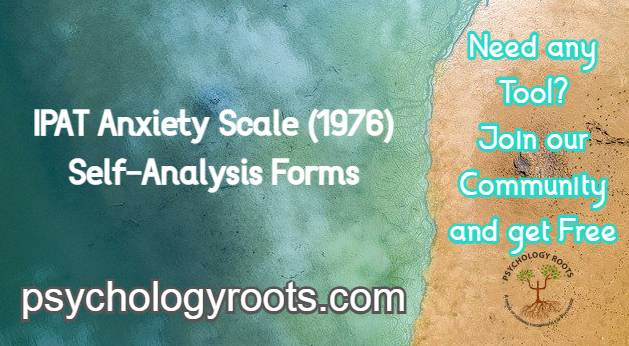 IPAT Anxiety Scale (1976) Self-Analysis Forms