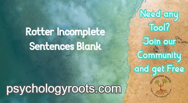 Rotter Incomplete Sentences Blank