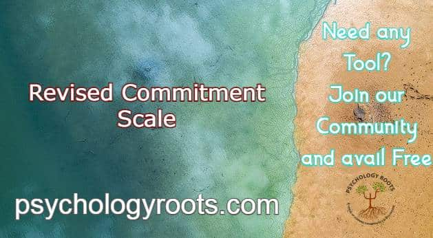 Revised Commitment Scale