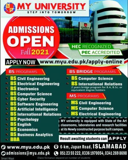 Muslim Youth University Admissions August 2021
