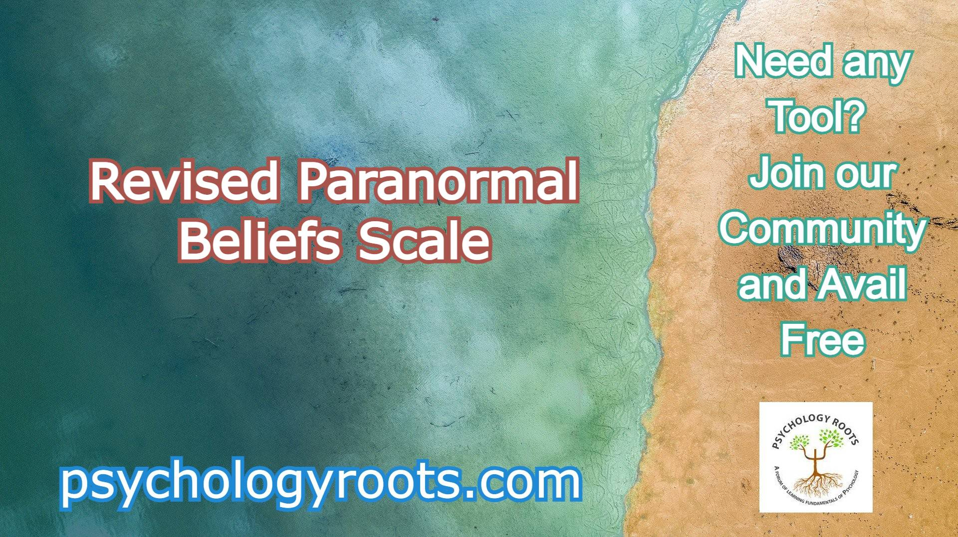 Revised Paranormal Beliefs Scale