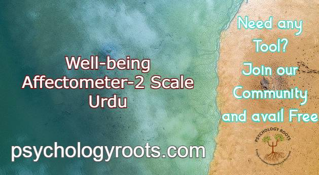 Well-being Affectometer-2 Scale Urdu