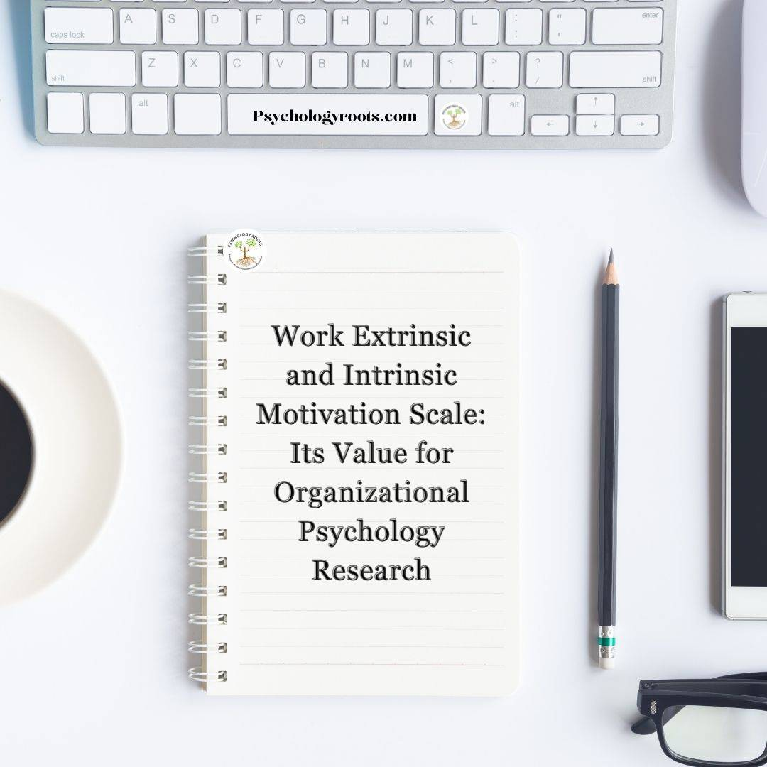 Work Extrinsic and Intrinsic Motivation Scale: Its Value for Organizational Psychology Research